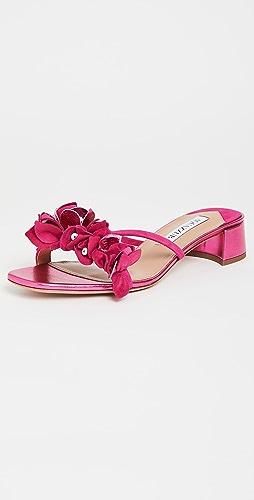 Aquazzura - Bougainvillea 30mm Slide Sandals