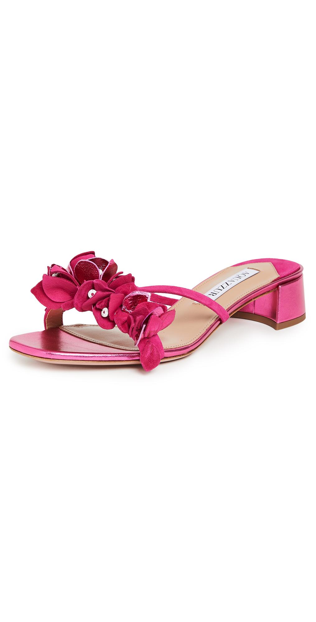 Aquazzura Bougainvillea 30mm Slide Sandals
