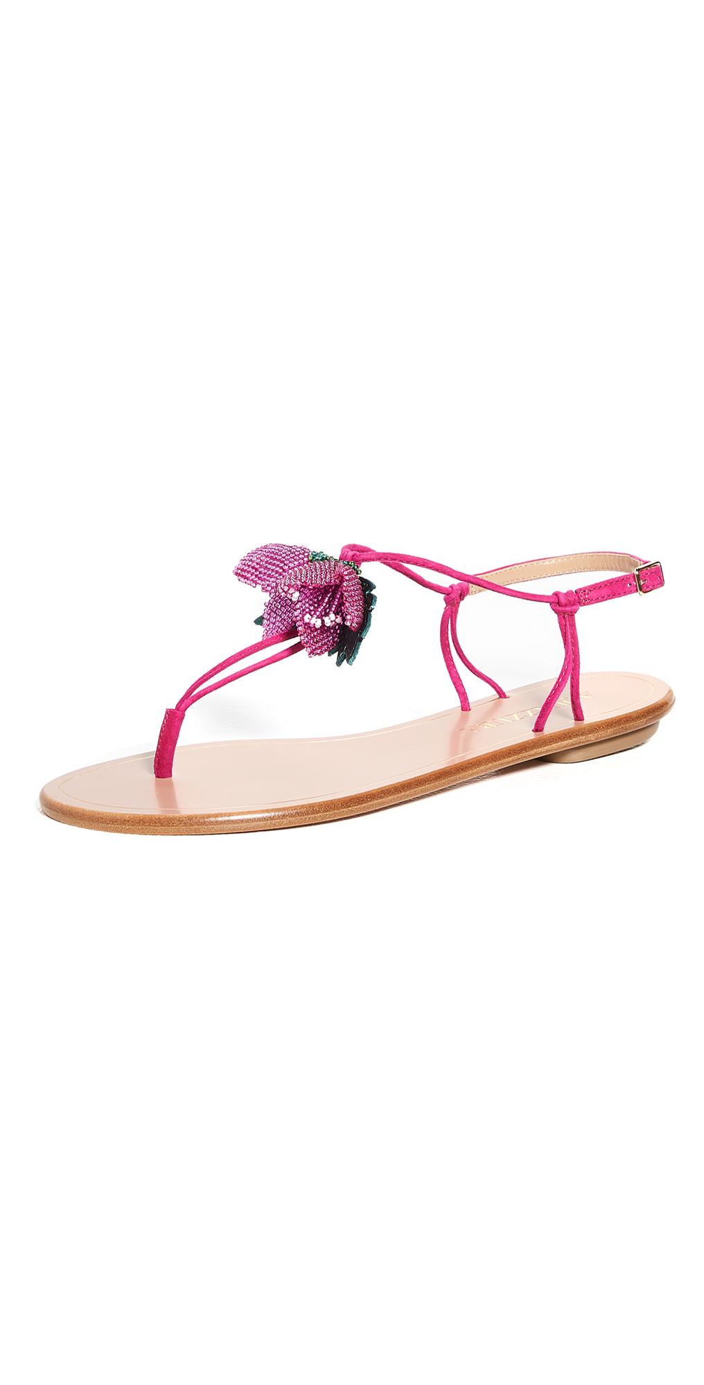 Aquazzura Bougainvillea Flat Sandals