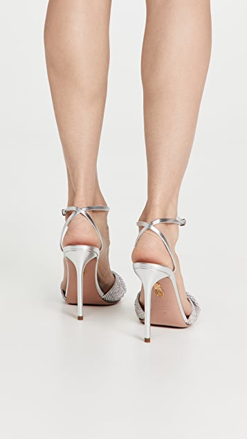 Aquazzura Crystal Twist 105 Sandals