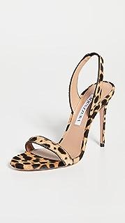 Aquazzura 105mm So Nude Cavallino Sandals