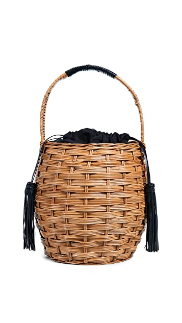 ARANAZ Marrais Woven Basket Bag