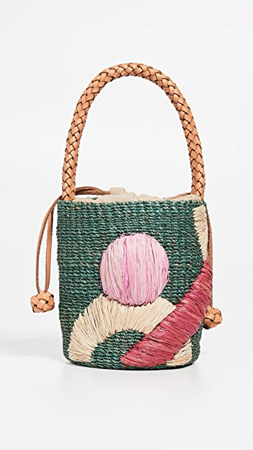 ARANAZ Claude Mini Bucket Bag - Green