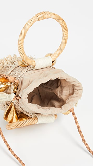 ARANAZ Nona Mini Fringe Bucket Bag