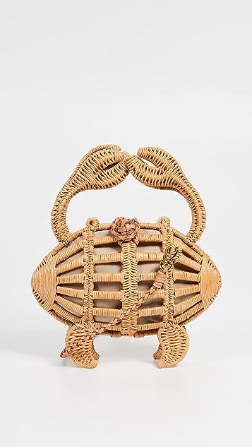 ARANAZ Crab Wicker Clutch