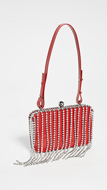 Area Crystal Fringe Phone Clutch