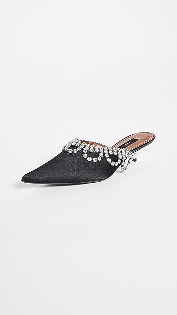 Area 扇贝饰边水晶 A 穆勒鞋