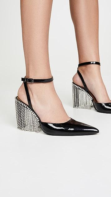 Area 水晶流苏高跟鞋