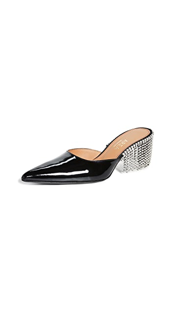 Area Crystal Fringe Kitten Heels