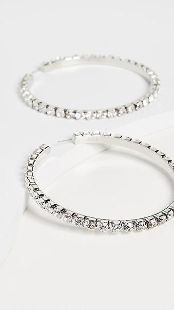 Area Большие классические круглые серьги-кольца