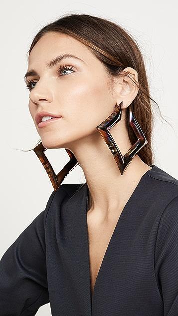 Area 充气方形耳环