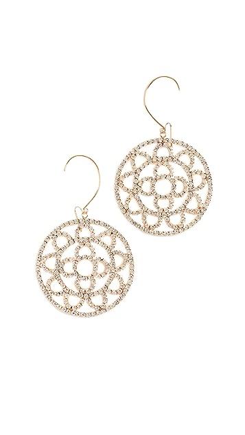 Area Crystal Cupchain Crochet Earrings