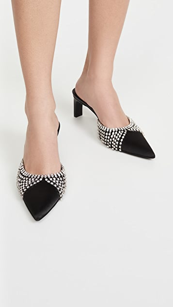 Area Draped Chandelier Kitten Heels