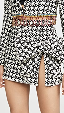 Monogram Houndstooth Crystal Trimmed Bow Skirt