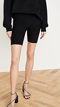 Micro Paillette Wool/Silk Bike Shorts
