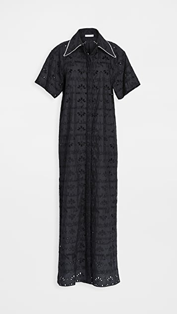 Area Crystal Trimmed Tunic Dress