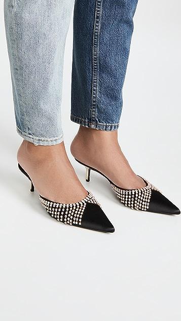Area 水晶流苏猫跟凉鞋