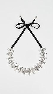 Area Crystal Clover Choker Necklace