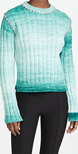 Area - Fitted Pullover Sweater with Crystal Stitch
