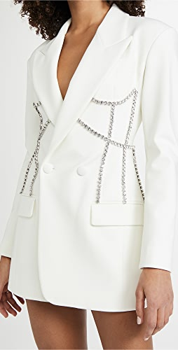 Area - Crystal Stitched Corset Blazer Dress