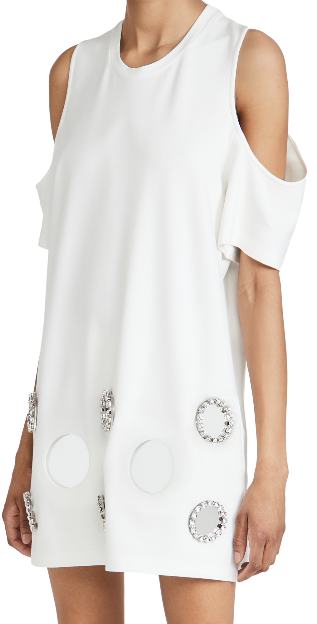 Area Mirror Cold Shoulder T-Shirt Dress