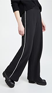 Area Crystal Stitched Track Pants