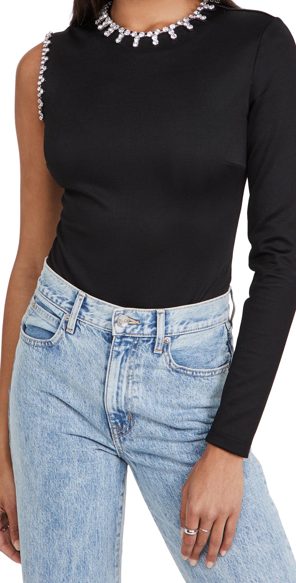 Area Asymmetric Sleeve Bodysuit