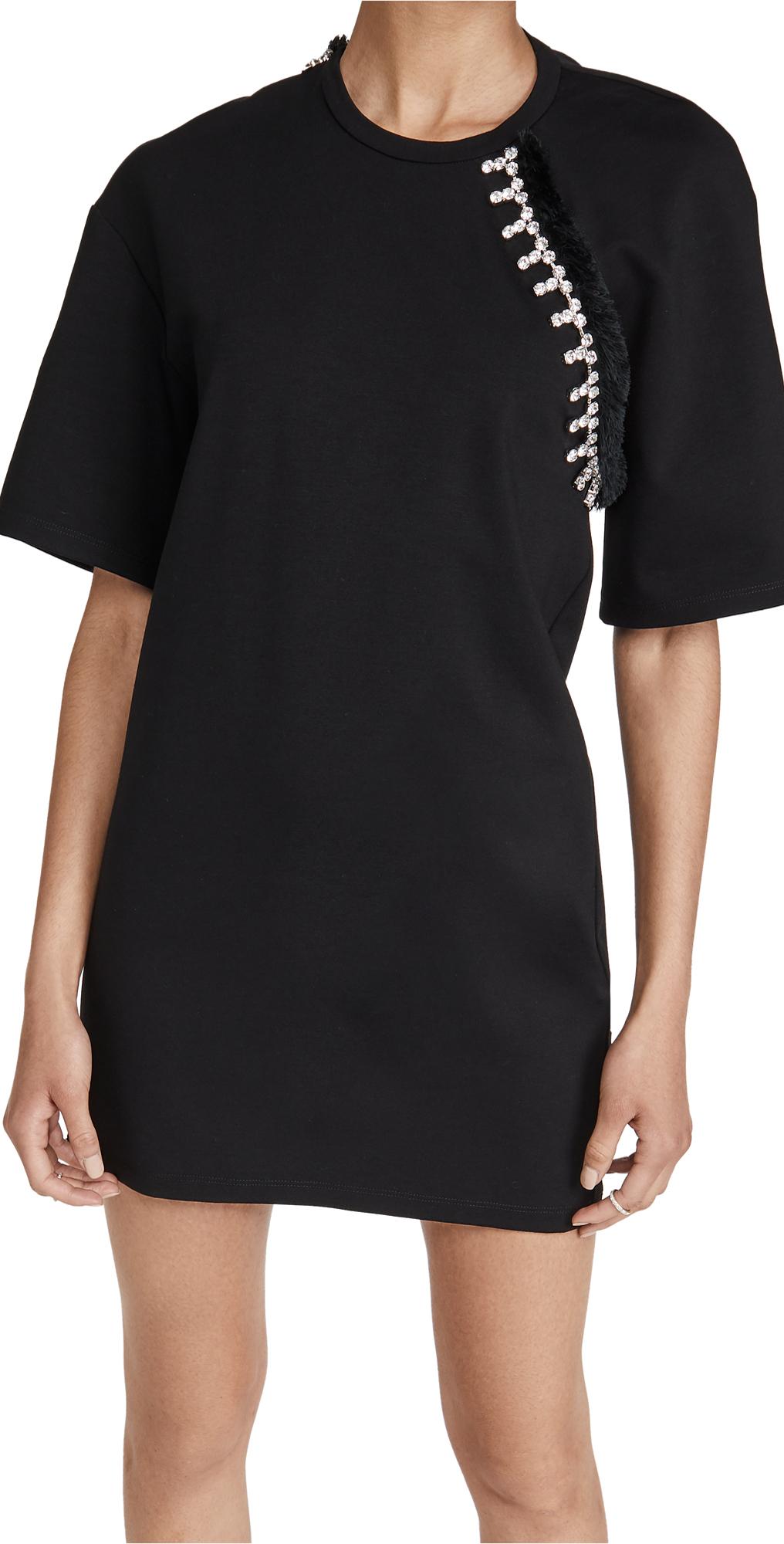 Area Convertible sleeve T Shirt Dress