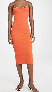 Area Rib Knit Midi Dress