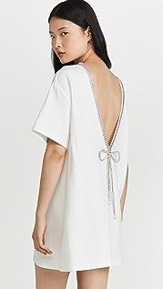 Area Crystal Bow T-Shirt Dress