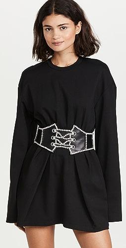 Area - Crystal Corset T-Shirt Dress