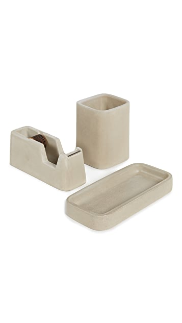 Areaware Concrete Desk Set