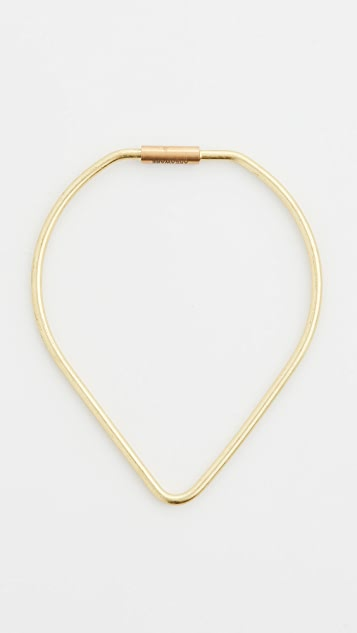 Areaware Contour Brass Key Ring