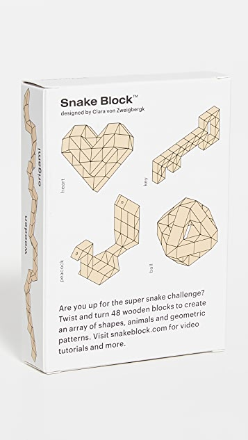 Areaware Snake Block Super Block