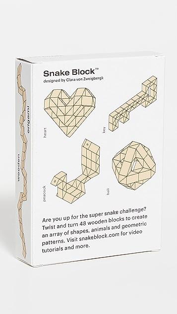 Areaware 蛇形积木超级积木