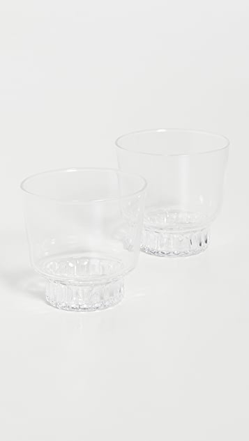 Areaware Ridge Kitchen Glasses Set Of 2