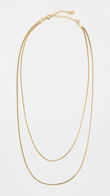 Argento Vivo Double Row Thin Herringbone Chain