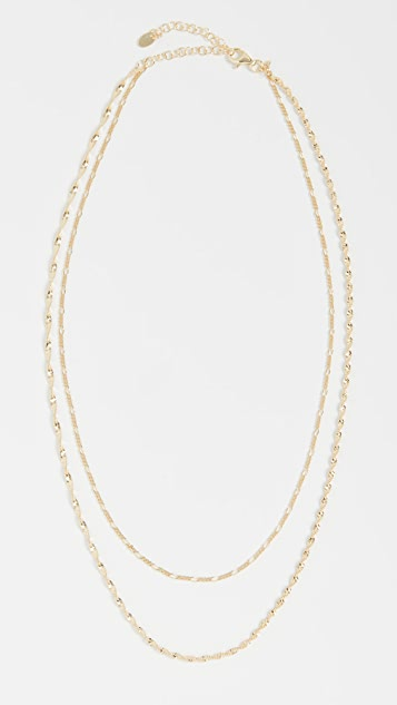 Argento Vivo Double Row Chain W Twist Necklace