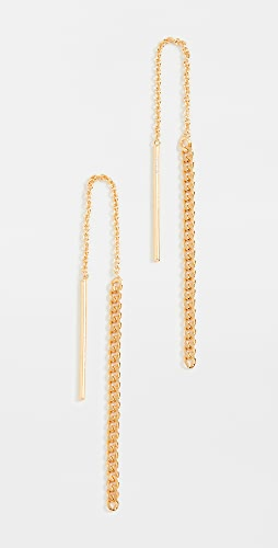 Argento Vivo - Gold Curb Chain Threader Earrings