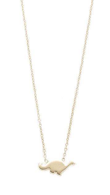 Ariel Gordon Jewelry 14k Gold The Menagerie Brachiosaurus Necklace