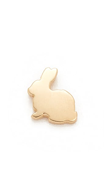 Ariel Gordon Jewelry 14k Gold Menagerie Bunny Stud Earring