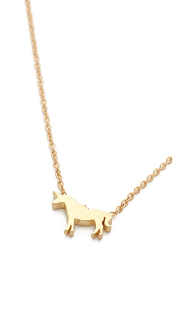 Ariel Gordon Jewelry 14k Gold Menagerie Unicorn Necklace