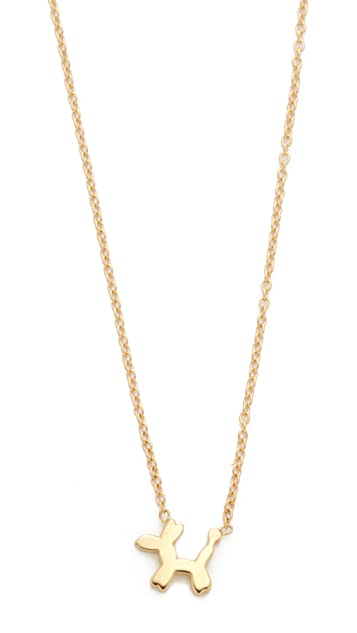 Ariel Gordon Jewelry 14k Gold The Menagerie Balloon Dog Necklace