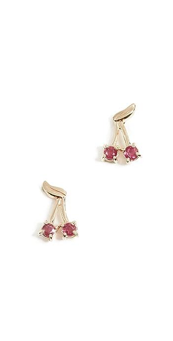 Ariel Gordon Jewelry 14k Ruby Cherry Bomb Studs - Ruby