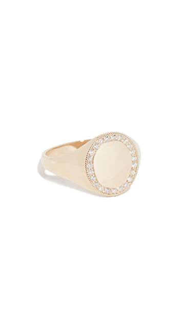 Ariel Gordon Jewelry 14k Jumbo Signet Ring with Pave