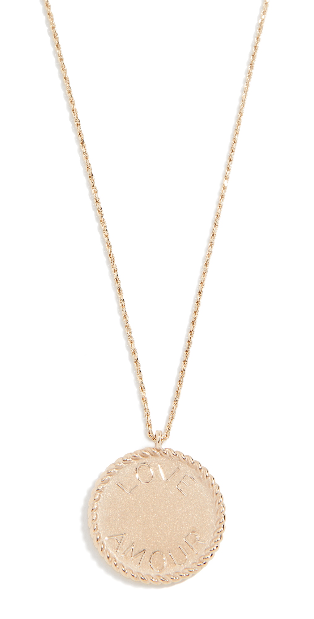 Ariel Gordon Jewelry 14k Imperial Disc Love Amour Necklace