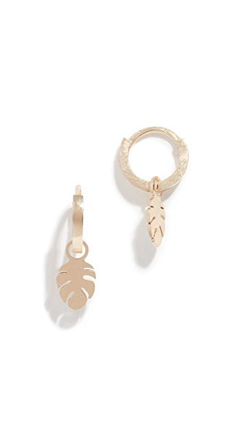 Ariel Gordon Jewelry 14k Leaf Charming Hoops