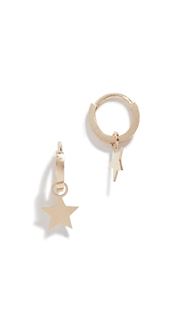 Ariel Gordon Jewelry 14k Daisy Charming Hoops
