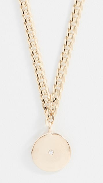 Ariel Gordon Jewelry 14k Medallion Signet Necklace