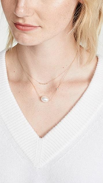 Ariel Gordon Jewelry 14k Mini Diamond Dash Necklace